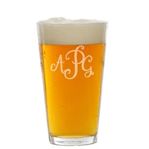 Monogram 16 oz pint glass