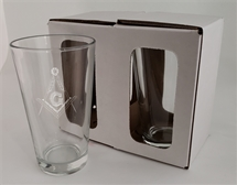 16 OZ RIMMED TEMPERED PINT GLASS - LIBBY Set of 2