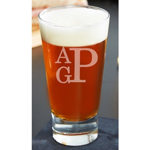 Large Monogram Firing Glass