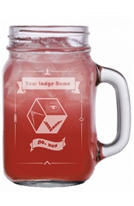 Custom Lodge engraved Mason Jar
