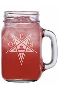 OES engraved Mason Jar