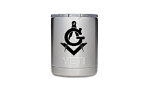 Masonic engraved 10 oz Yeti Tumbler