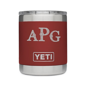 Monogram engraved 10 oz Yeti Tumbler