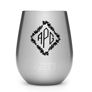 Monogram engraved Yeti wine tumbler
