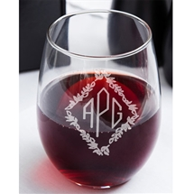 Monogram Stemless 17oz Wine glass