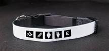 Custom Masonic small Dog Collar