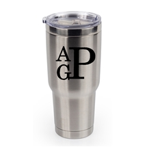 BOSS 32 OZ MONOGRAM STAINLESS STEEL THERMAL TUMBLER