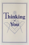 Thinking of You Greeting Card with Masonic Logo (Pk of 25)