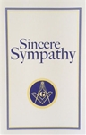 Sympathy Greeting Card with Masonic Logo (Pk of 25)