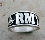 ARMY Masonic Sterling Silver ring