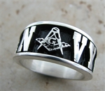NAVY Masonic Silver ring size 10.5 only
