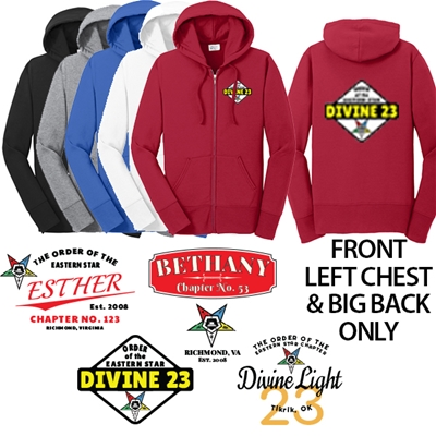 Eastern Star Chapter Fleece Zip-up Hoodie
