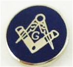 Round Masonic Lapel Pin