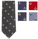 Extra long Loom Woven Masonic Polyester Ties Assorted Colors