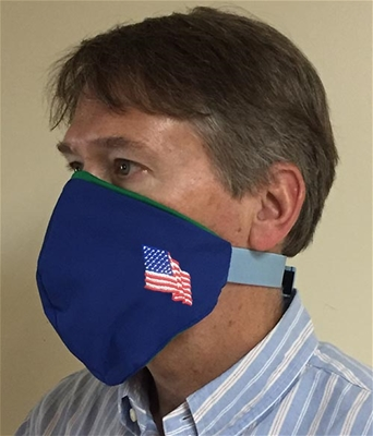 American Flag Face covering - 100% USA MADE