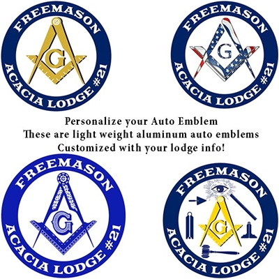 Custom Aluminum Masonic Car Emblem