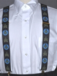 "Masonic Blue Lodge Suspenders 1.5"" black elastic"