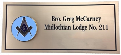 Custom Master Mason Name Plate for Apron Cases