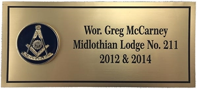 Custom Past Master Name Plate for Apron Cases