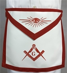Red Master Mason Apron - Lamtex w/ Belt - Roadshow