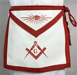 Red Master Mason Apron - Lamtex w/ C&T - Roadshow
