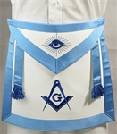 Leather Master Mason apron w/ Side Tabs and Belt - Roadshow