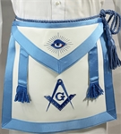 Masonic Apron Medium Blue Chord and Tassles