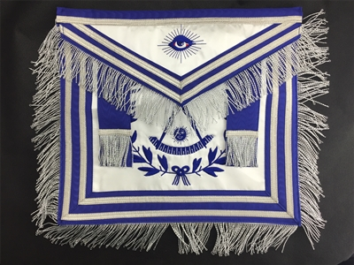 Masonic Past Master Apron Satin Metallic Fringe - only one
