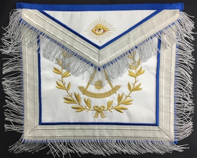 Masonic Past Master Apron silver non tarnish - only one