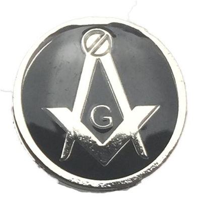 Masonic Button Covers Silvertone