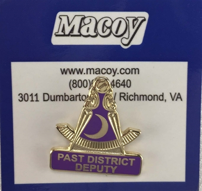Past District Deputy Pin w/ Moon SALE