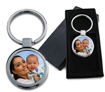 Keychain with photo and box