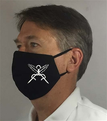 Secretary Black Masonic over Ears Face covering - 100% USA MADE