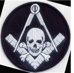 Square Compass and Skull Patch