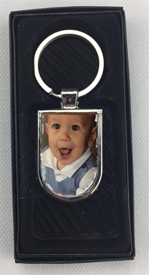 Arc Photo Keychain with gift box