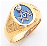 "Masonic rings Round stone with S&C and ""G"" 10KYG"