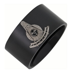 Stainless Steel Past Master Ring Black Finish