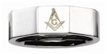 Stainless Steel Masonic Ring High Polish Finish
