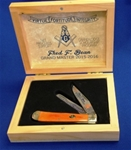 MS Fred Bean Knife in Wooden Box