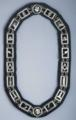 Masonic Silver Chain Collar with Royal blue lining