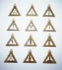 Royal Arch Mason Officer Jewels Set of 12