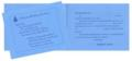 Blue Masonic Birthday Card with White Envelop