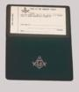 Masonic Black Vinyl Card case