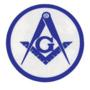 Masonic 3 Inch inside Window decal (2 color)