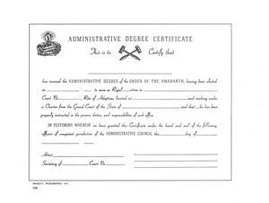 amaranth administrative degree certificate