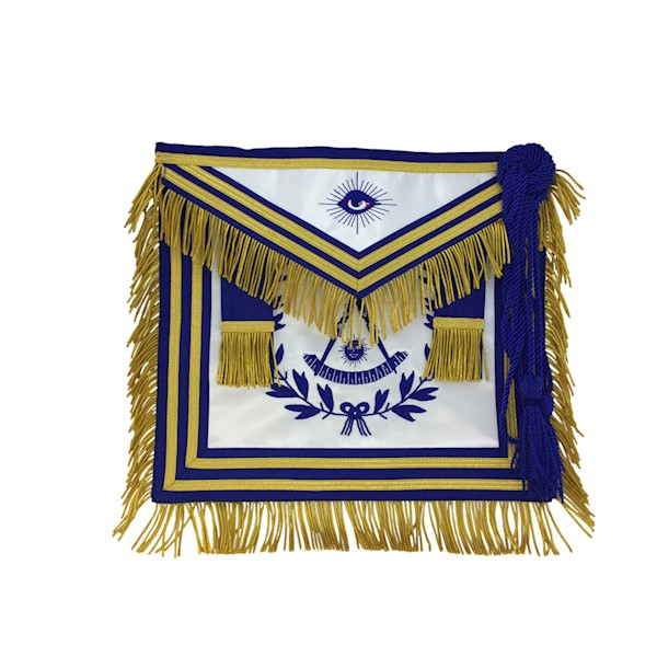 Past Master Apron Gold or Silver Bullion Embroidery