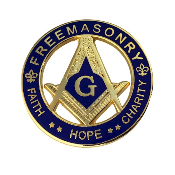 Masonic S & C within Circle Pin