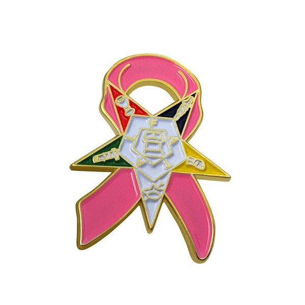 OES Breast Cancer Support Lapel Pin