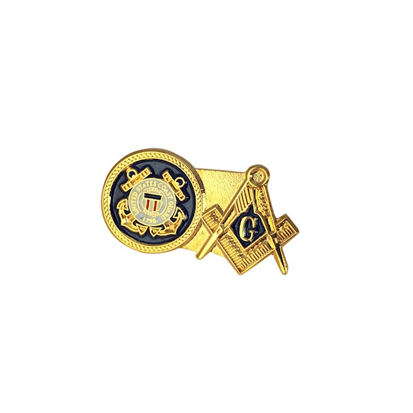US Coast Guard & Masonic Lapel Pin