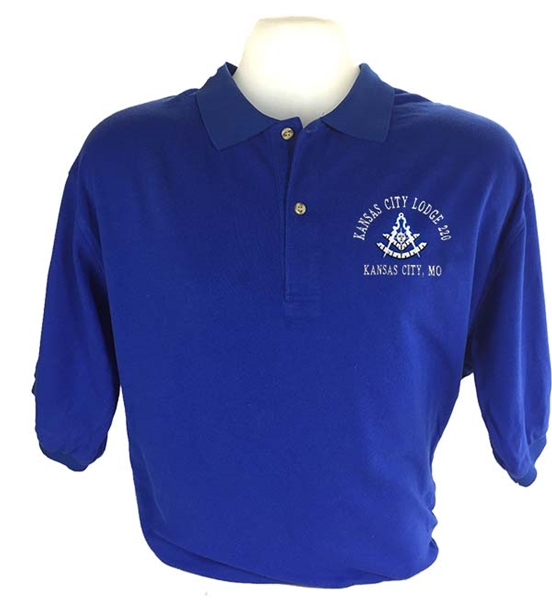 Blue Lodge Shirt Past Master w/ Square Compasses and Quadrant - XL Size ONLY